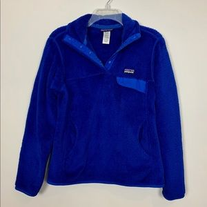Re-Tool Snap T Fleece Pullover - Blue sz Small